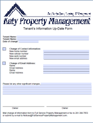 Tenant Information Form | Tenant Documents
